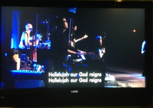 Justin playing with the Worship Team at COF